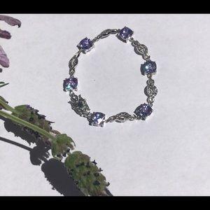 Jewelry - Silver & purple rhinestone bracelet